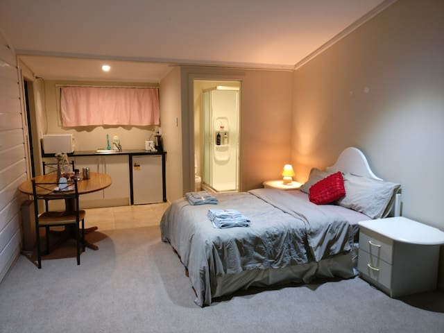 Pvt entrance & bathroom studio near AKL Airport - Auckland - House