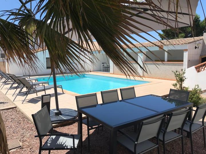 Détente, calme, proche de la plage, piscine privée