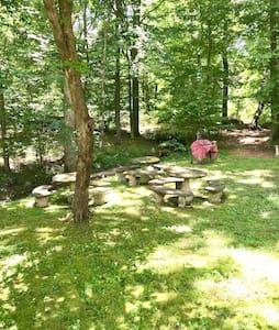 Private campsite, 50 amp RV hookup.  Near TIEC