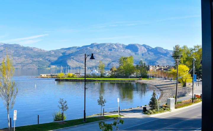 West Kelowna Beach House on sunny Okanagan Lake