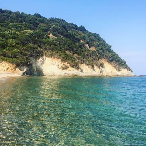 Gavriadia beach-in front of the villa