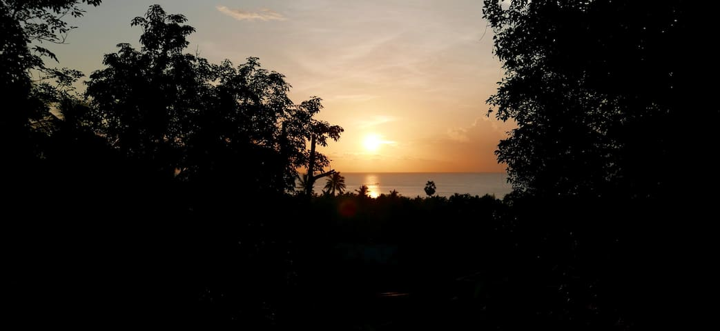 Morning sunrise, view from the master bedroom.