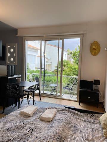 Charmant studio rénové Quartier Foncillon Royan