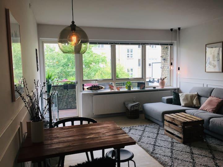 Cozy apartment with balcony in Copenhagen