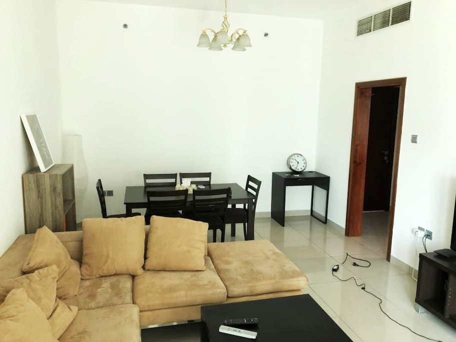 Fully furnished Exquisite Living room and dinning table area Comes with: