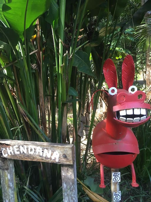 Our friendly smiley donkey will greet you at the door