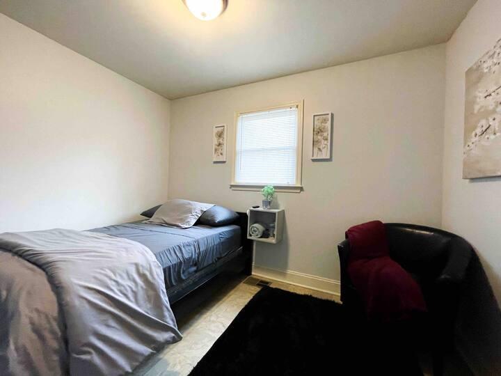 SANITIZED Cozy Room w/ Daily Fresh Coffee (Room A)