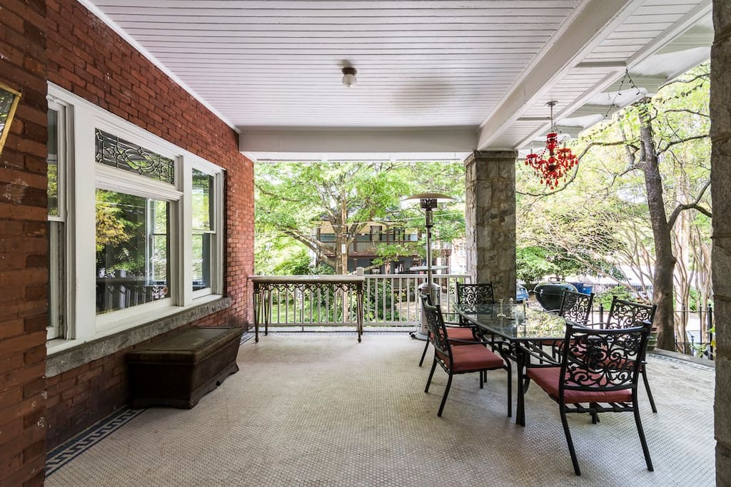 Enjoy an afternoon bbq with friends, this large patio is great for entertaining
