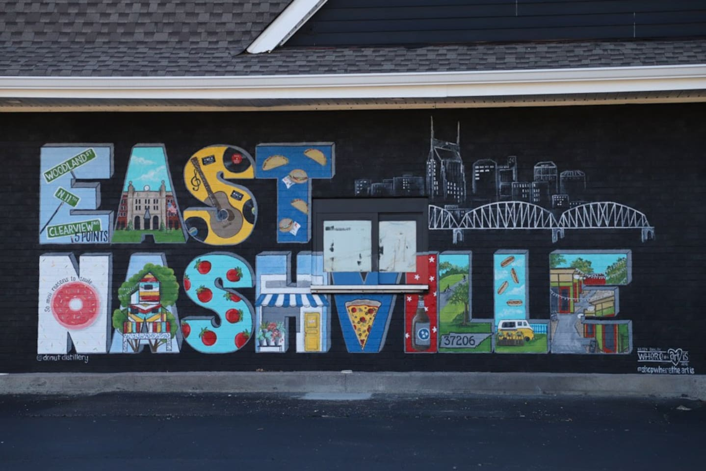 5 minutes from the heart of artsy East Nashville!