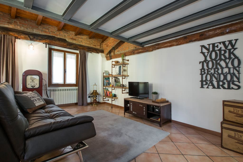 pic by Airbnb - living room