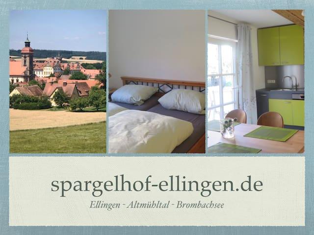FeWo1 Spargelhof Ellingen, Brombachsee, Altmühltal