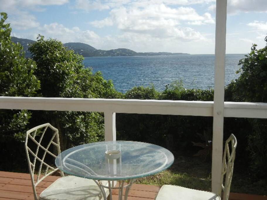 Private veranda outlooking the ocean