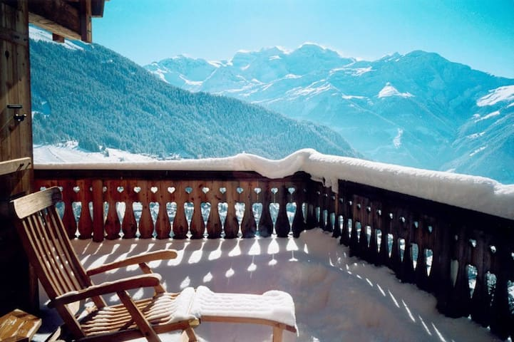Astonishing View Chalet Ski in /out - Bagnes - Chalupa