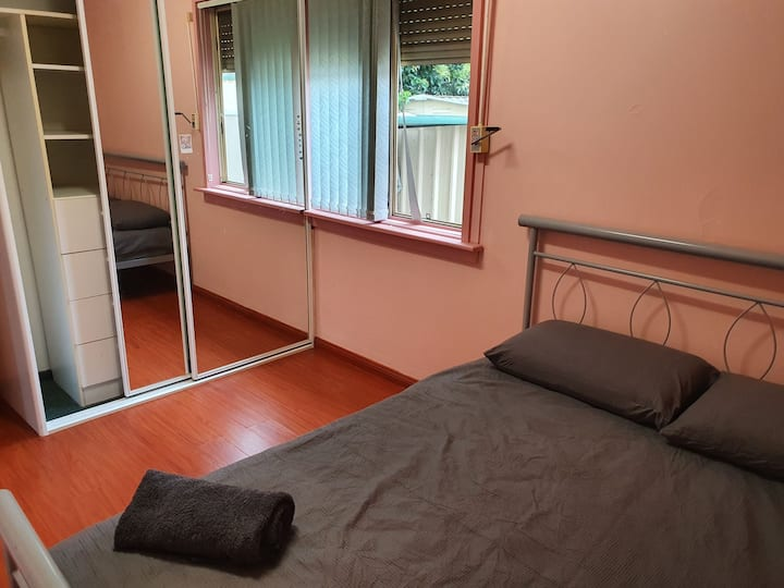 Double bed room with aircon, free WiFi.