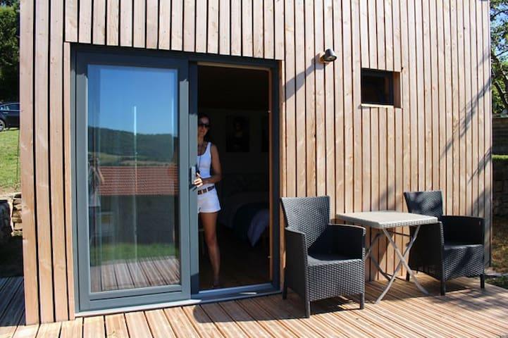 Cabane  bois avec toiture végétalisée en Ardèche - Saint-Symphorien-de-Mahun - Kabin