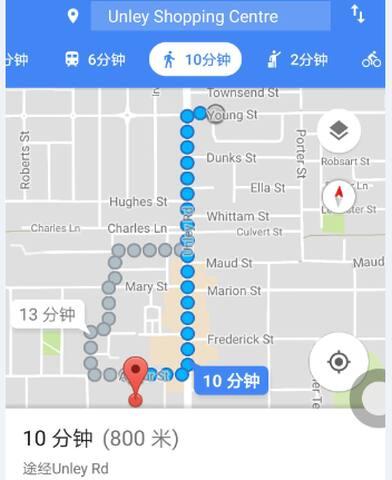 正南距unley购物中心仅700m。生活、休闲、购物、研读均十分方便 If you want to go shopping, Just south of Unley Shopping Center is only 700 meters away. It is idea place to live here.