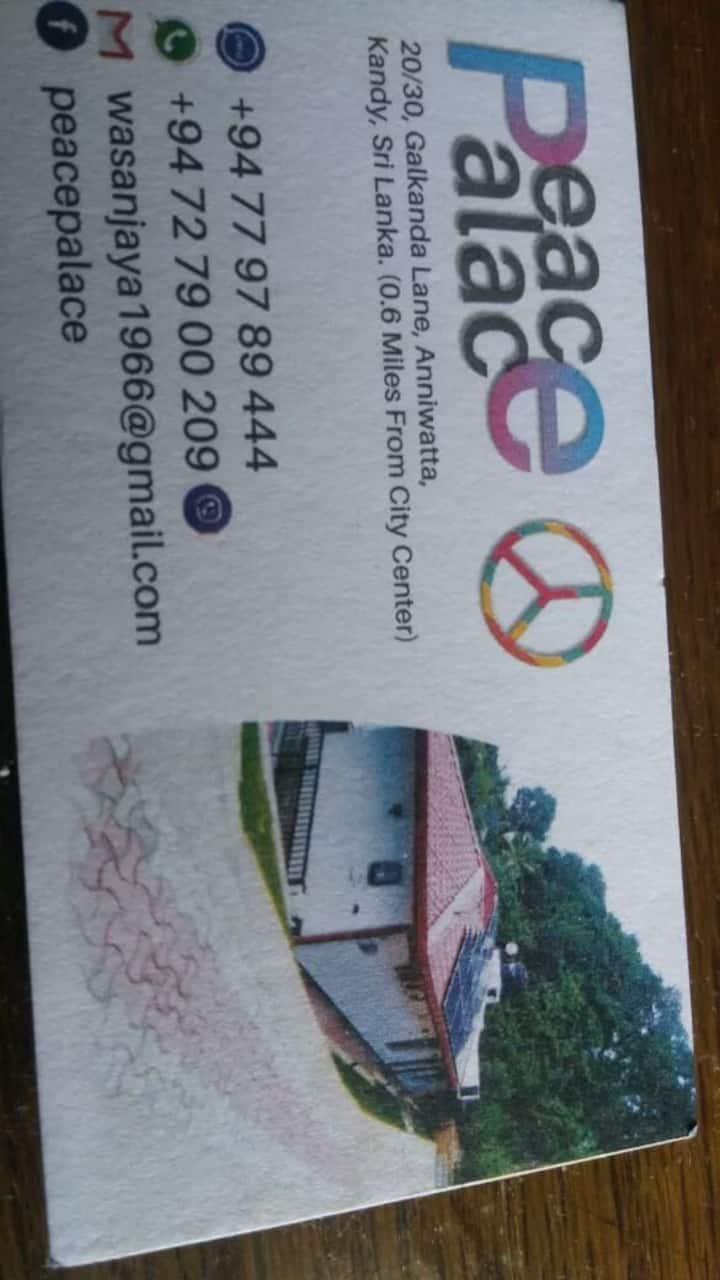 Visit Kandy and visit PEACE PALACE