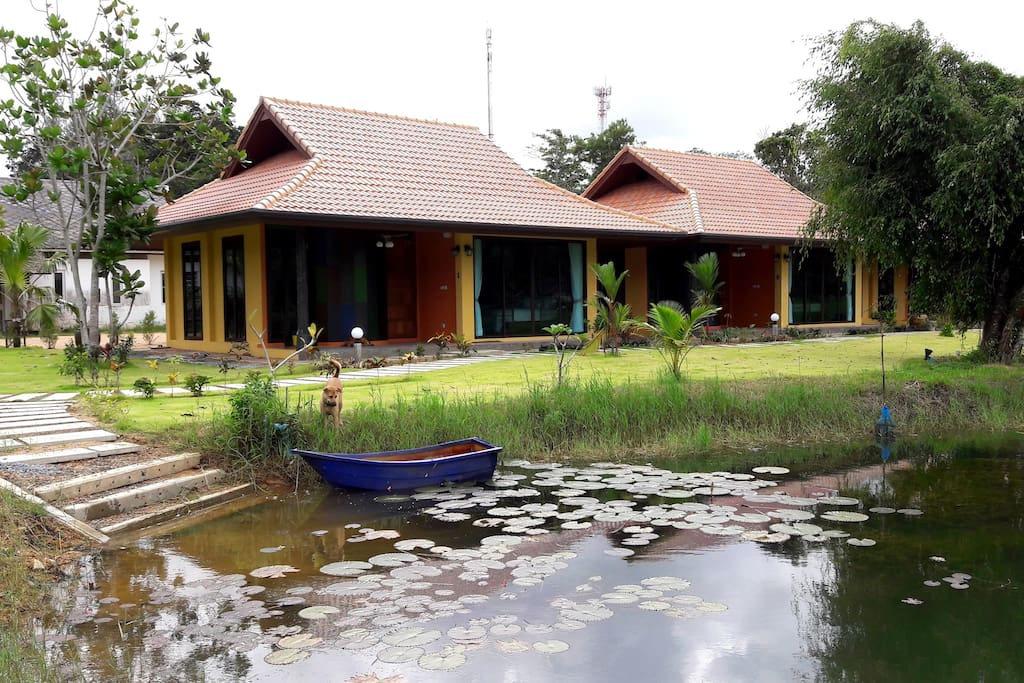 Villas beside the lake