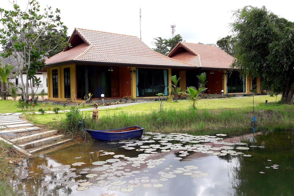 Villas beside the lake