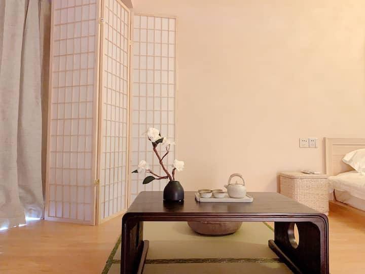 【奢漫】近南华大学/日式榻榻米/巨幕影院/乳胶床垫/观景大床房