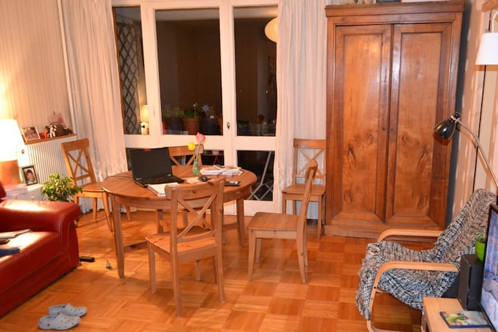 Small bedroom with a green open view. - Beauvais - Apartemen