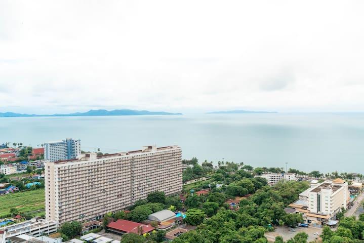 5★ Sea View Coast Line Jomtien 500m Sea+Market