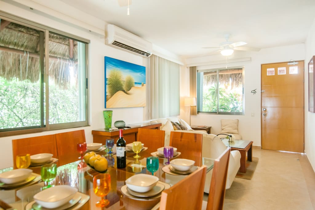 Large Dining and Living Rooms