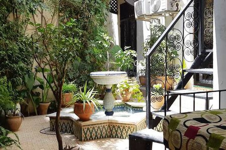 Small riad style apartment with private garden .