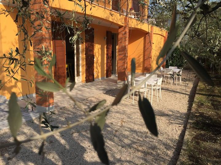 Lazise, Gardasee, mit Garten, 2 Familien