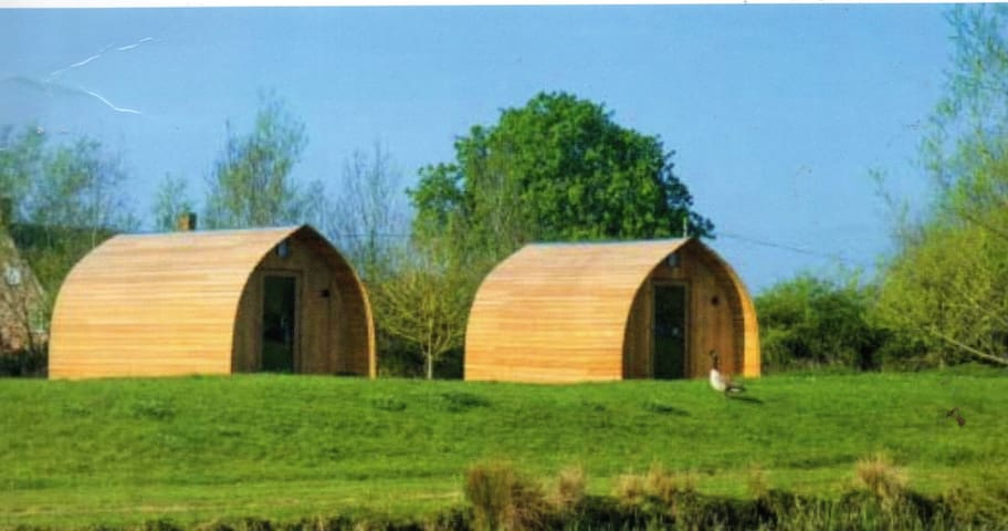 Beautiful Glamping Pods set in open countryside.