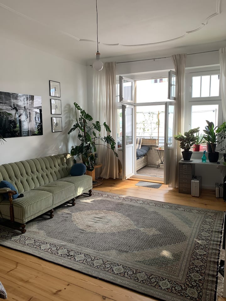 Cozy, bright and big room with balcony