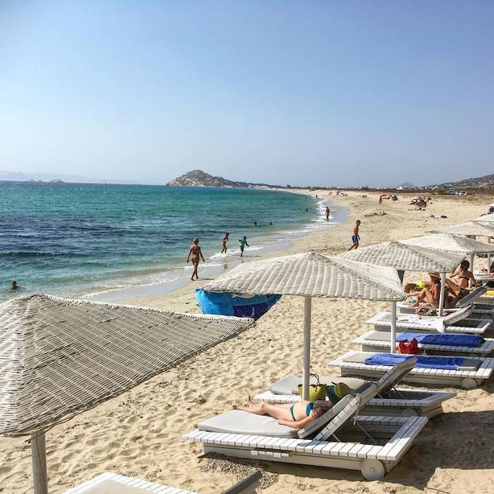 Naxos Aegean seaside  apartment 10m from the beach