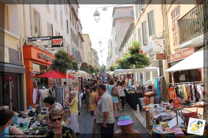 La rue Lamalgue au Mourillon