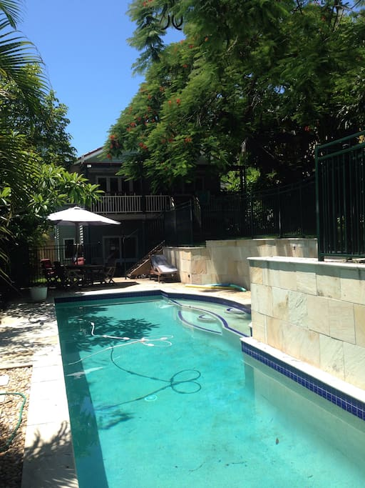 14m solar heated pool to use