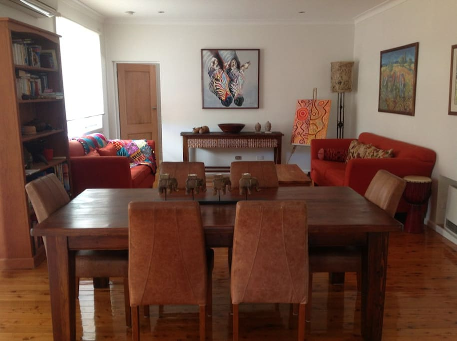 Living, dining, comfortable and light