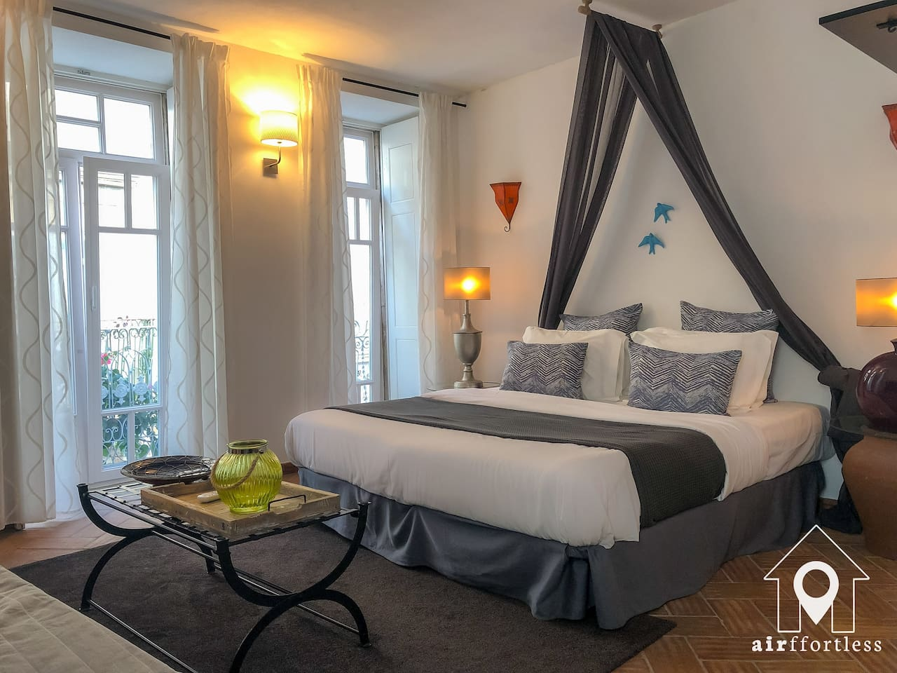 Our First Floor Suite is equipped with a comfortable double bed and a sofa bed with space for 2 additional guests