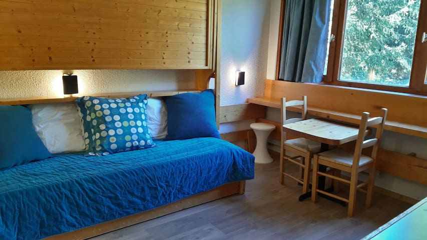 Well-situated small studio at the heart of the resort and  close to the slopes