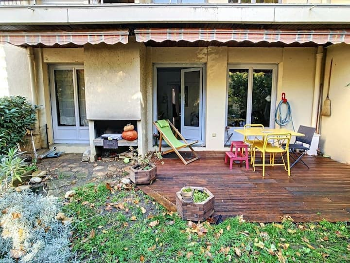 T3 avec jardin et barbecue à la Croix rousse