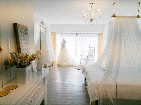 佳乐世纪城•50平大床江景•婚纱摄影主题•空气泡泡生活美宿