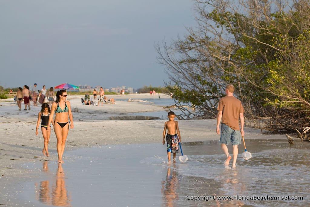 Enjoy walking on the beach