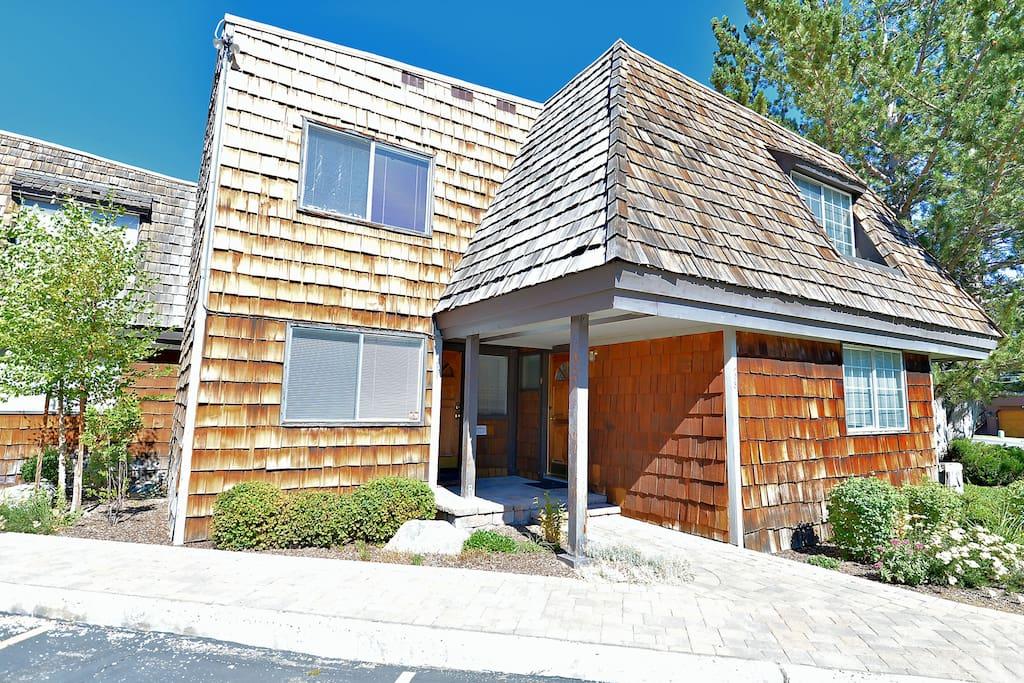 Cedar shakes add rustic Tahoe charm.