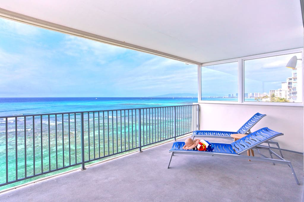 Relax on your large private balcony