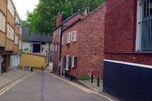 Waggon and Horses Lane leads directly to Elm Hill, famous for its cobbled streets and art galleries, antiques and coffee shops.  At the other end of the lane you will find the gates of Norwich Cathedral.