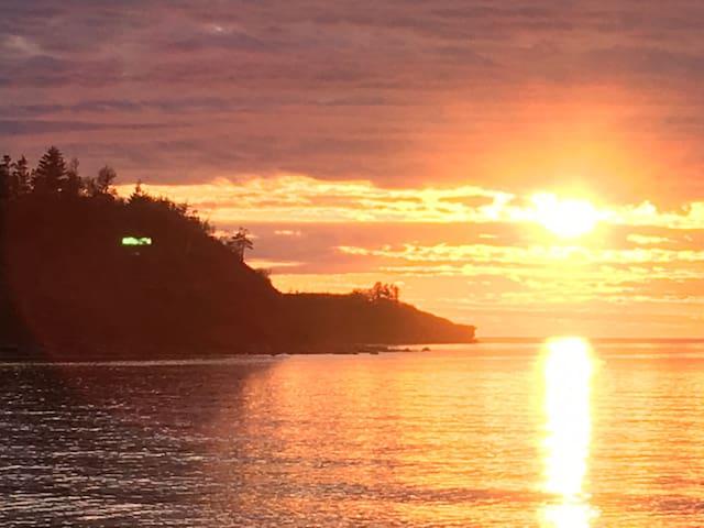 sunset at seafoambeach