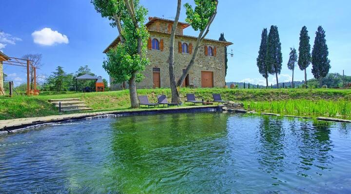 Villa I Leopoldi - Casale Toscano con Bio Piscina