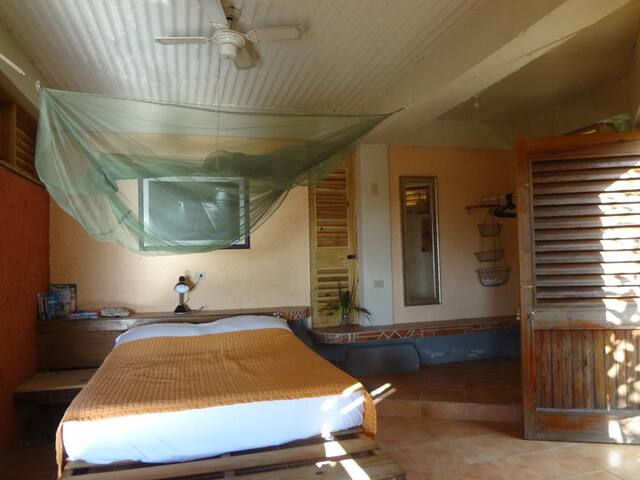 The sleeping area.