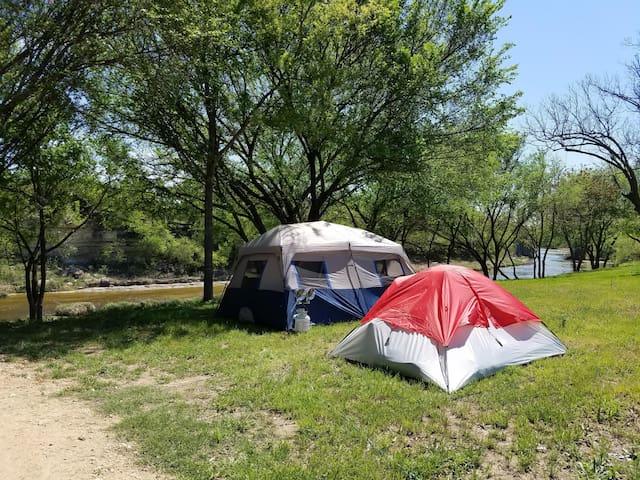 Camp site along the Lampasas River #1