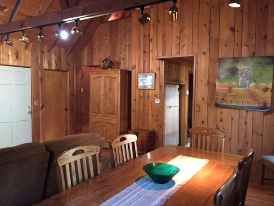 Knotty Pine throughout for that cabin feel