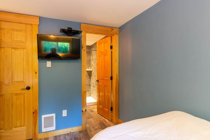 Bathroom connected to bedroom