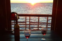 Watch the sunset while enjoying a bottle of wine from the sanctuary vineyard, located less than 5 minutes away.